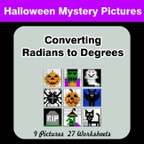Halloween: Converting Radians To Degrees - Math Mystery Pictures