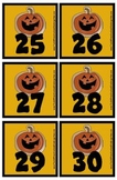 Halloween Cookie Calendar Pieces Memory Game Preschool, Ki