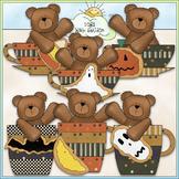 Halloween Cookie Cup Bears - CU Colored Clip Art
