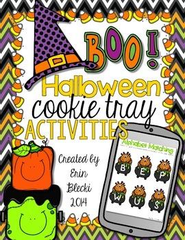 Halloween Cookie Tray Activities