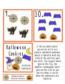 Halloween Cookies Addition Center