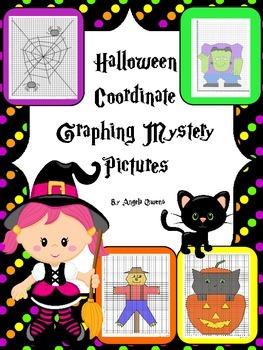 Halloween Activities: Coordinate Graphing Bundle