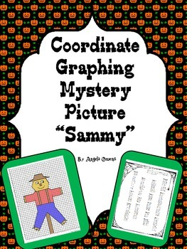 "Halloween Activities: Coordinate Graphing Mystery Picture ""Sammy"""