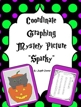 Halloween Activities: Coordinate Graphing Mystery Picture