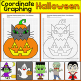 Halloween Math Coordinate Graphing Ordered Pairs: Zombie, Vampire, Witch, Ghost