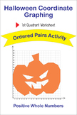 Halloween Coordinate Graphing Ordered Pairs Activity