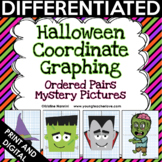 Halloween Math Coordinate Graphing Pictures Ordered Pairs {Mystery Pictures}