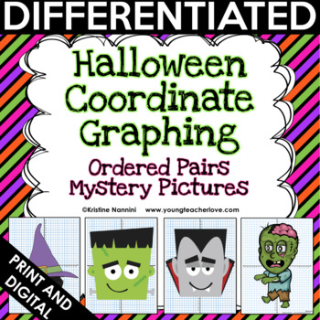 Halloween Activities - Halloween Math - Coordinate Graphing - Mystery Pictures