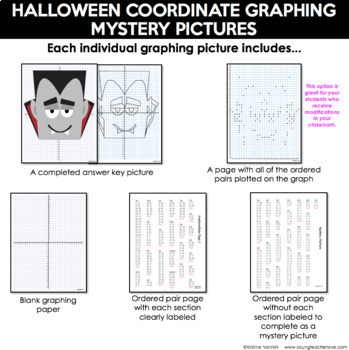 Halloween Activities - Coordinate Graphing Pictures - Ordered Pairs - Fall