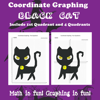 Halloween Coordinate Graphing Picture:Black Cat