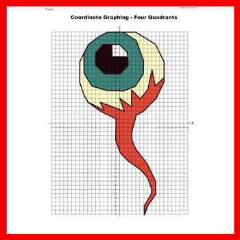 Halloween Coordinate Graphing Picture: Eyeball