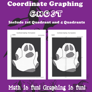 Halloween Coordinate Graphing Picture:Ghost