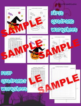 Halloween Coordinate Graphing Picture:Halloween Bundle 5 in 1