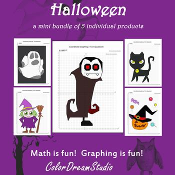 Halloween Coordinate Graphing Picture: Halloween Bundle 5 in 1