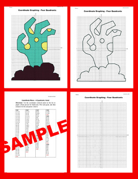 Halloween Coordinate Graphing Picture: Hand