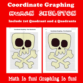 Halloween Coordinate Graphing Picture: Human Skeleton