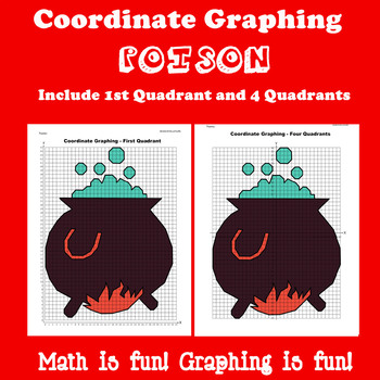 Halloween Coordinate Graphing Picture: Poison