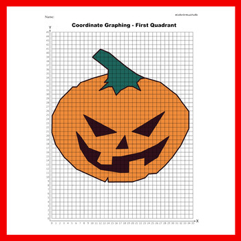 Halloween Coordinate Graphing Picture: Pumpkin