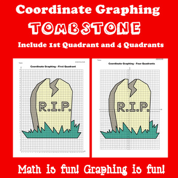 Halloween Coordinate Graphing Picture: Tombstone
