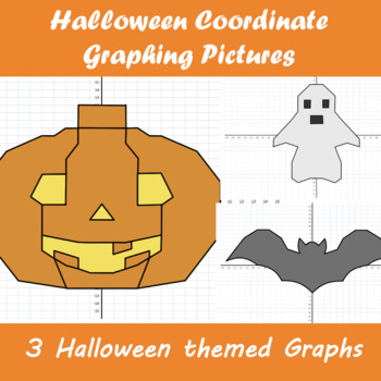 Halloween Coordinate Graphing Pictures
