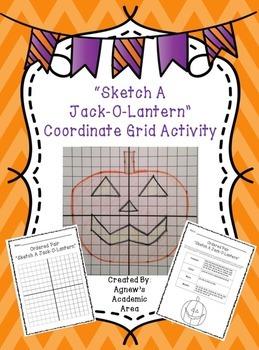 Halloween Coordinate Grid Activity