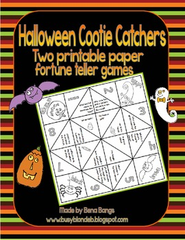 {Halloween Cootie Catchers!} Two printable paper fortune tellers