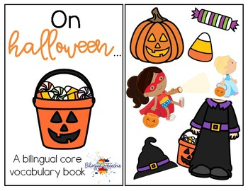 Halloween Core Vocabulary Book - BILINGUAL!