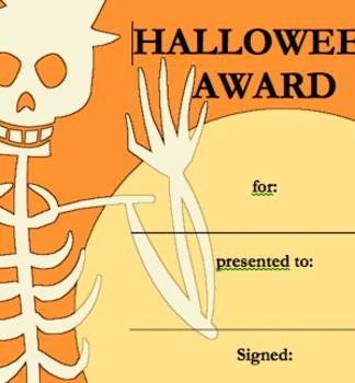 Halloween Costume Award