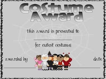 Halloween Costume Awards