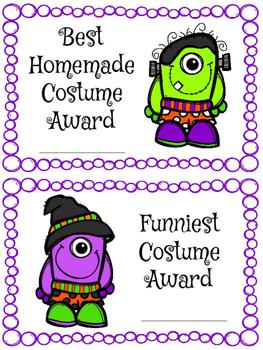 Halloween Costume Awards