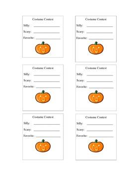 Halloween Costume Contest Vote