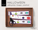 Halloween Costume Cutting Strips Preschool Printable