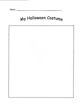 Halloween Costume Drawing & Coloring Pages