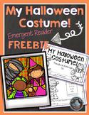 Halloween Costume Emergent Reader FREEBIE!