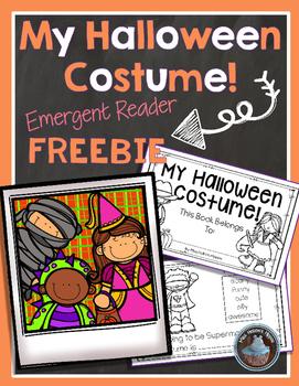 Halloween Costume Emergent Reader FREEBIE! by Miss Hellen's Hippos
