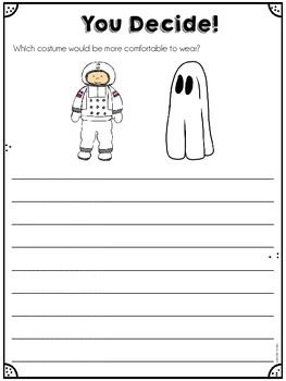 Halloween Costume Face Off: An Opinion/Persuasive Writing Activity