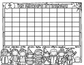 FREE Halloween Costume Graph in French