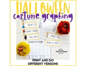 Halloween Costume Graphing Activities