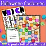 Preschool Pictured Language Activities  Halloween Costume Lotto Riddle Games