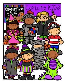 Halloween Costume KIDS {Creative Clips Digital Clipart}