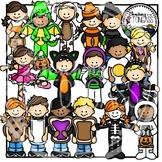 Halloween Costume Kids 2 Clipart Bundle