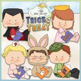 Halloween Costume Kids Clip Art 2 - Halloween Clip Art - C