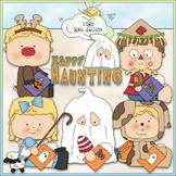 Halloween Costume Kids Clip Art 3 - Halloween Clip Art - C