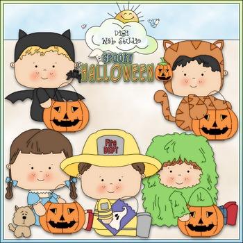 Halloween Costume Kids Clip Art 4 - Halloween Clip Art - CU Clip Art & B&W