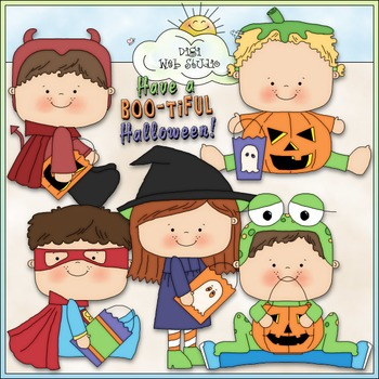 Halloween Costume Kids Clip Art 6 - Halloween Clip Art - C