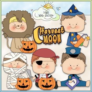Halloween Costume Kids Clip Art 7 - Halloween Clip Art - CU Clip Art & B&W