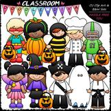 Halloween Costume Kids - Clip Art & B&W Set