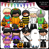 Halloween Costume Kids - Clip Art & B&W Set