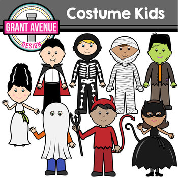 Halloween Costume Kids Clipart