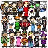 Halloween Costume Kids Clipart Bundle